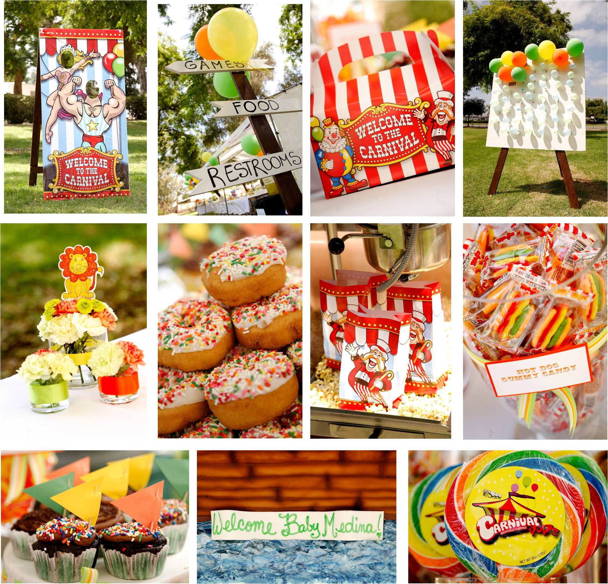 Carnival themed baby shower a stunning affair 39 s weblog - Carnival party menu ...
